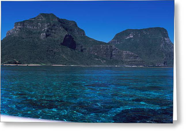 Howe Greeting Cards - Island In The Ocean, Mt Gower, Lord Greeting Card by Panoramic Images