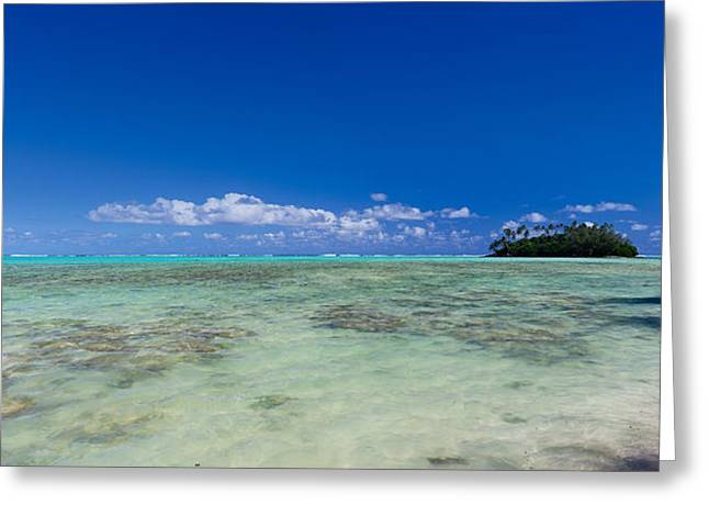 Ocean Photography Greeting Cards - Island In The Pacific Ocean, Rarotonga Greeting Card by Panoramic Images