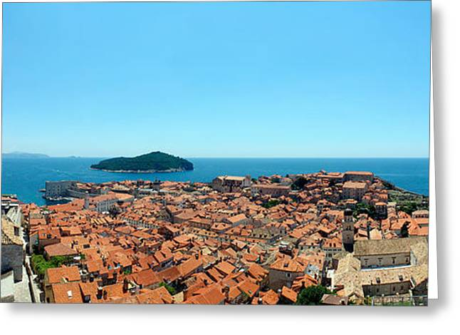 Casual Clothing Greeting Cards - Island In The Sea, Adriatic Sea, Lokrum Greeting Card by Panoramic Images