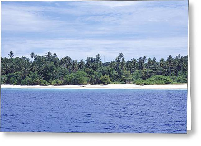 Tiger Economy Greeting Cards - Island In The Sea, Indonesia Greeting Card by Panoramic Images