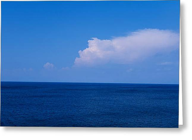 Residential Structure Photographs Greeting Cards - Island In The Sea, Majorca, Spain Greeting Card by Panoramic Images
