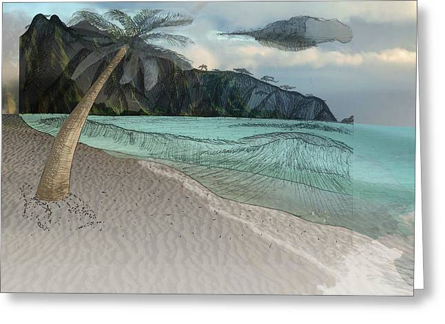 Beach Photos Drawings Greeting Cards - Island in the Sun Greeting Card by Darren  Graves