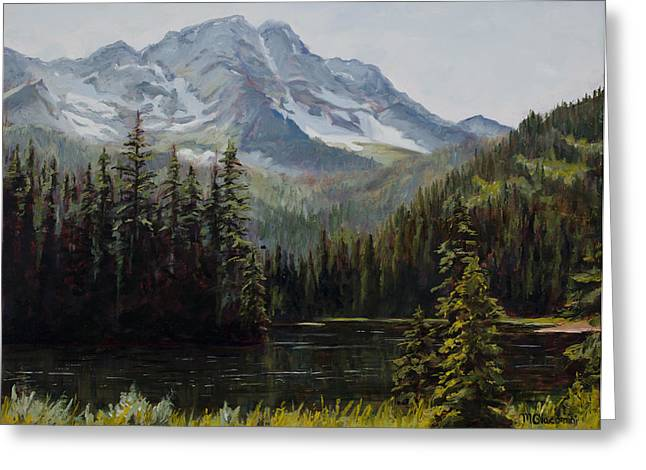 Old Growth Greeting Cards - Island Lake Greeting Card by Mary Giacomini