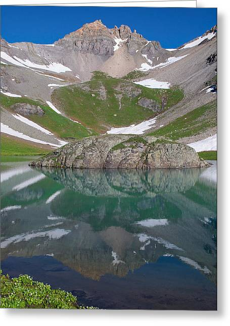 Duplicate Greeting Cards - Island Lake Reflection Greeting Card by Aaron Spong