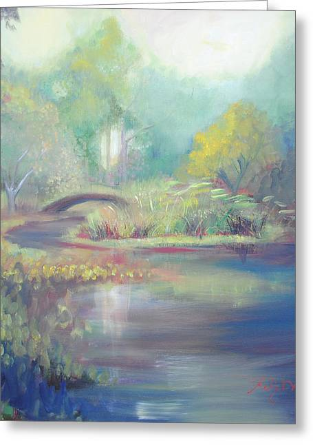 Synesthesia Greeting Cards - Island of Dreams Greeting Card by Kelly Walters