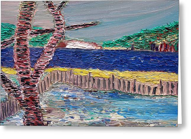 New Mind Paintings Greeting Cards - Island of Hope Greeting Card by Vadim Levin