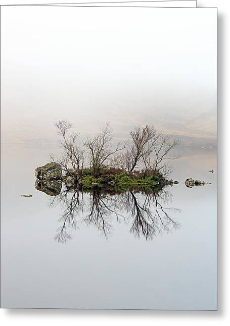 Lochan Greeting Cards - Island of Trees Reflection Greeting Card by Grant Glendinning