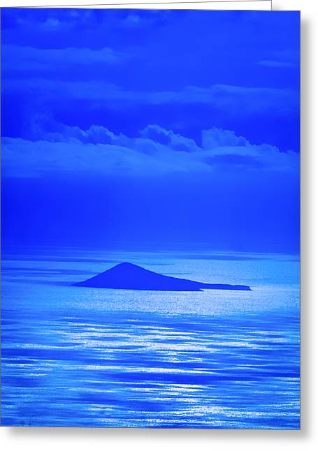 Aqua Blue Greeting Cards - Island of Yesterday Greeting Card by Christi Kraft