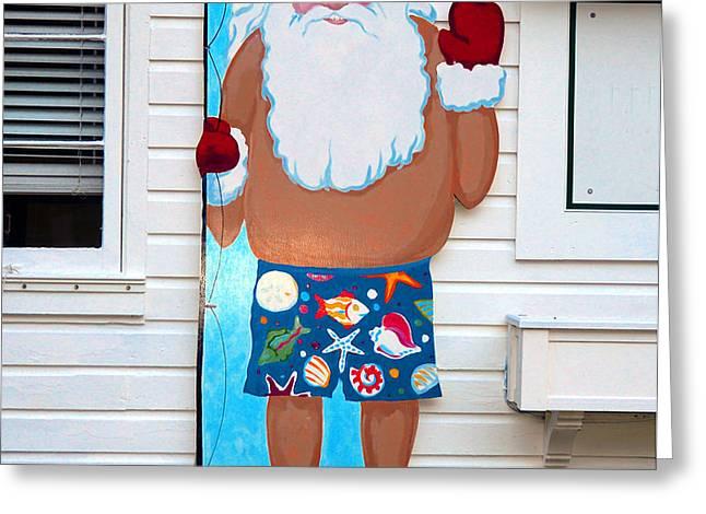 Island Santa Greeting Card by David Lee Thompson