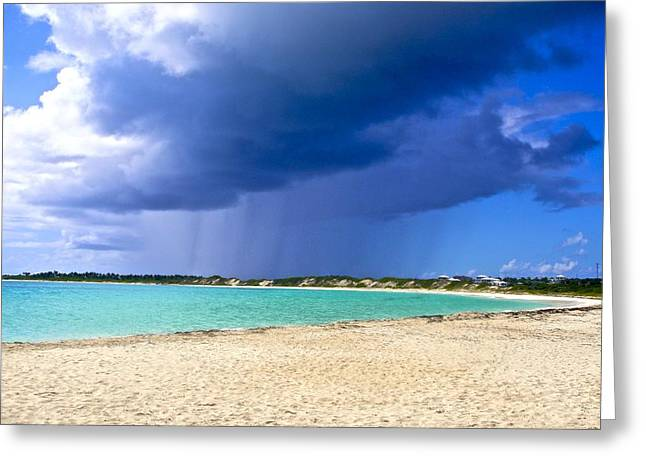 Vaction Greeting Cards - Island Storm on Rendezvous Bay Greeting Card by Jennifer Lamanca Kaufman