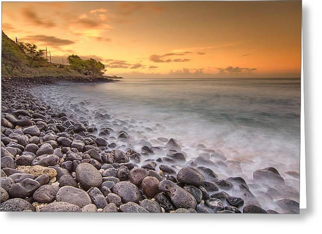 Koolina Greeting Cards - Island Sunset in Oahu Greeting Card by Tin Lung Chao
