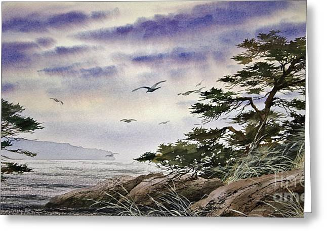 Landscape Framed Prints Greeting Cards - Island Sunset Greeting Card by James Williamson