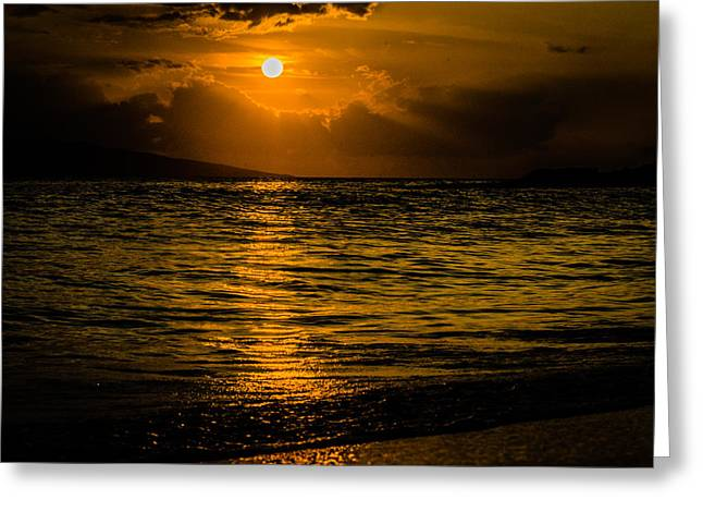 Pacific Ocean Prints Greeting Cards - Island Sunset Greeting Card by Puget  Exposure