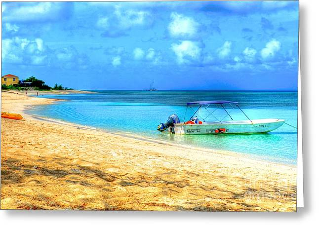 Grand Turk Island Greeting Cards - Island Time Greeting Card by Debbi Granruth