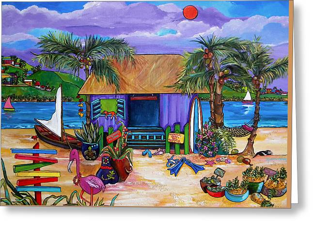Shack Greeting Cards - Island Time Greeting Card by Patti Schermerhorn