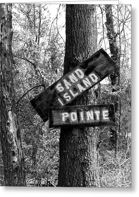 Alabama Pyrography Greeting Cards - Islands End Greeting Card by KayLee Byrtus