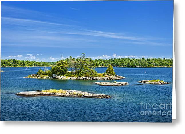 Parry Sound Greeting Cards - Islands in Georgian Bay Greeting Card by Elena Elisseeva