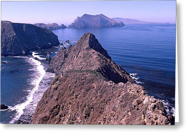 California Ocean Photography Greeting Cards - Islands In The Ocean, Anacapa Island Greeting Card by Panoramic Images