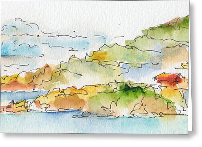 Sienna Greeting Cards - Islands In The Sun Greeting Card by Pat Katz