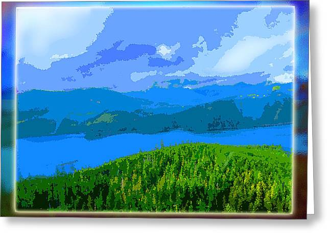 Charlotte Digital Art Greeting Cards - Islands Greeting Card by Monzo Rock