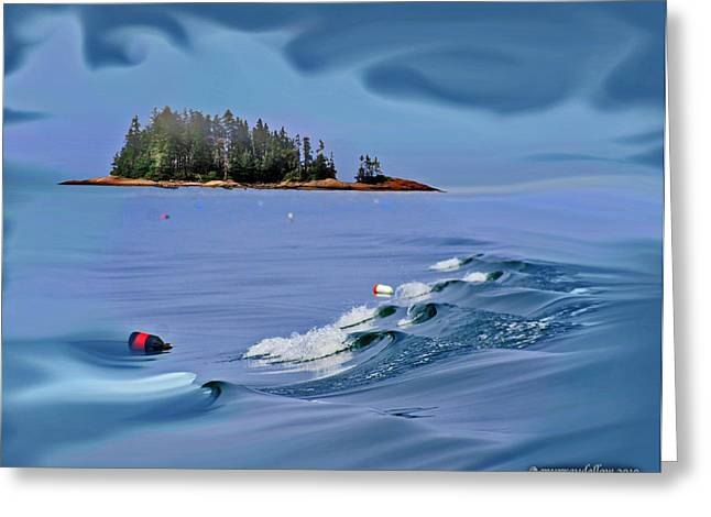 Haut Digital Greeting Cards - Isle Au Haut Dream Greeting Card by Murray Dellow