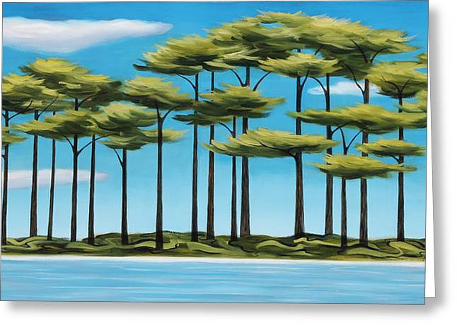 Recently Sold -  - Abstract Forms Greeting Cards - Isle of Pines Greeting Card by Margaret Biggs