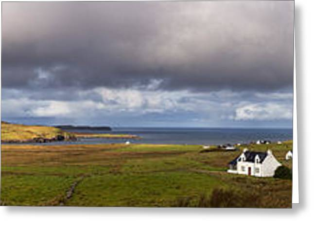 Beautiful Scenery Greeting Cards - Isle of Skye pano Greeting Card by Jane Rix