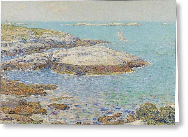 New England Lights Greeting Cards - Isles of Shoals Greeting Card by Childe Hassam