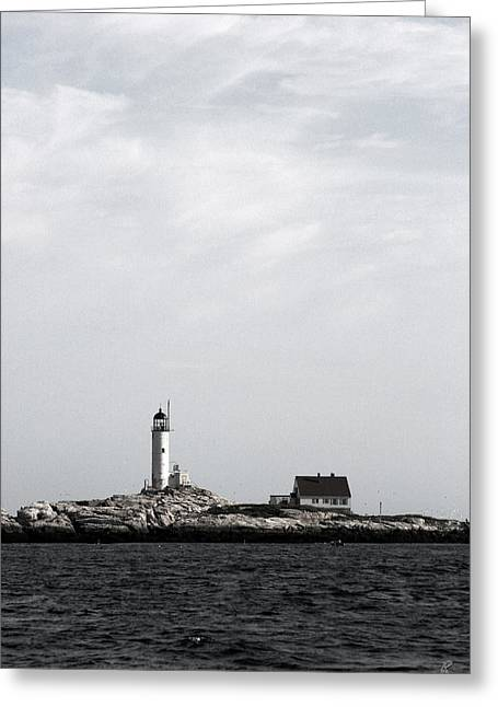 Isles Of Shoals Lighthouse Greeting Card by Brett Pelletier