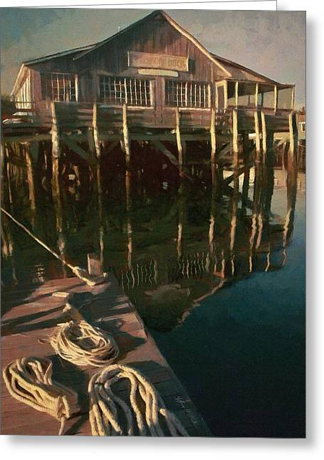 Islesford Dock Greeting Card by Jeff Kolker