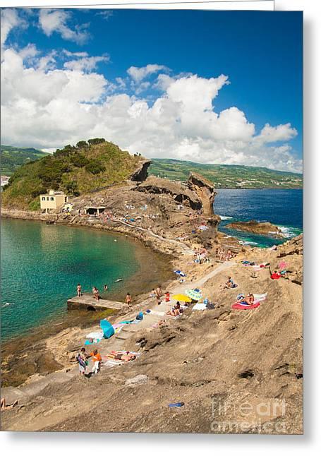 Sunbathing Greeting Cards - Islet of Vila Franca do Campo Greeting Card by Gaspar Avila