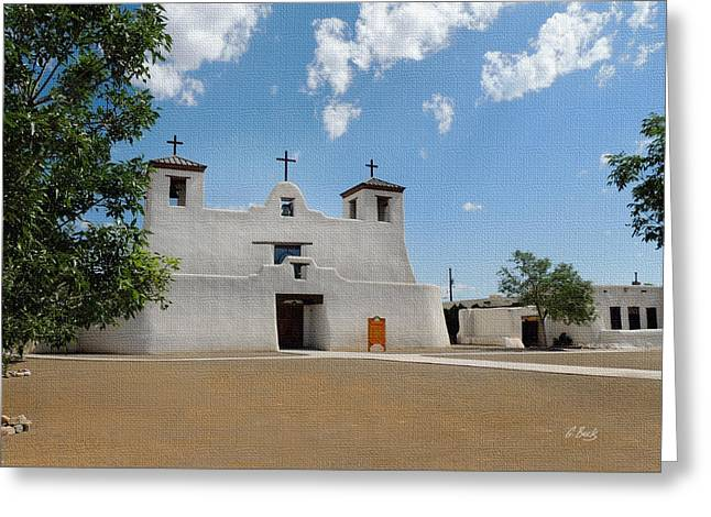 St. Augustine Greeting Cards - Isleta Mission Greeting Card by Gordon Beck