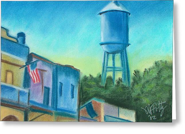 Art Of Building Pastels Greeting Cards - Isleton Old Town Greeting Card by Michael Foltz