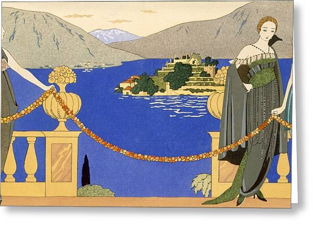 Attractiveness Greeting Cards - Isola Bella Greeting Card by Georges Barbier