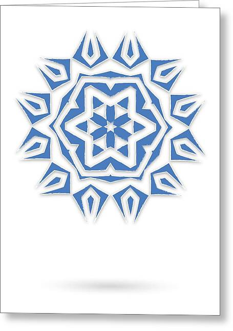 Ornament Tapestries - Textiles Greeting Cards - Isolated abstract blue stars Greeting Card by Jozef Jankola