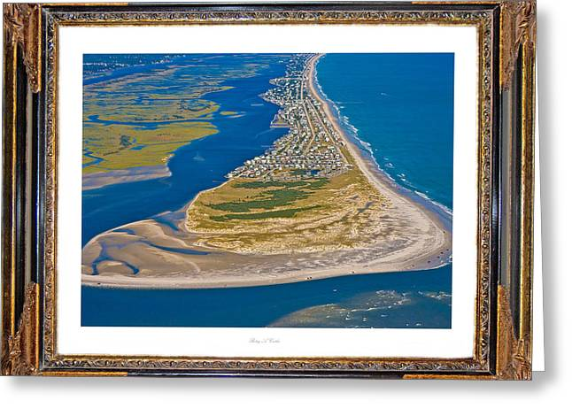 Atlantic Beaches Greeting Cards - Isolated Luxury Framed Greeting Card by Betsy A  Cutler