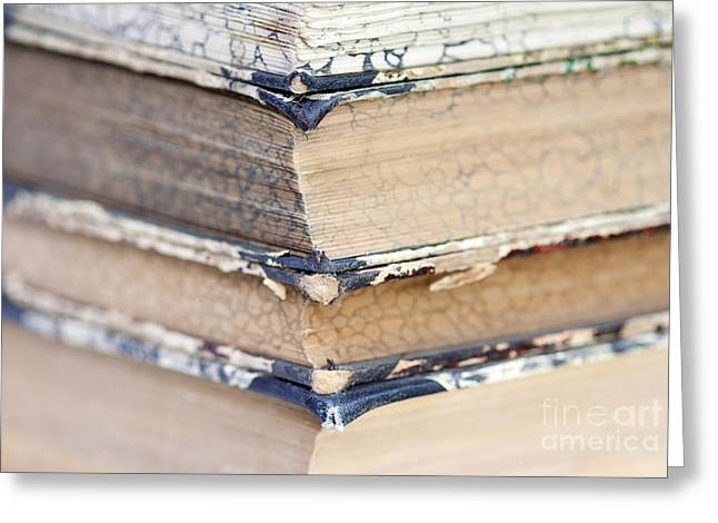 Antiquarian Greeting Cards - Isolated Old Books Greeting Card by Michal Boubin
