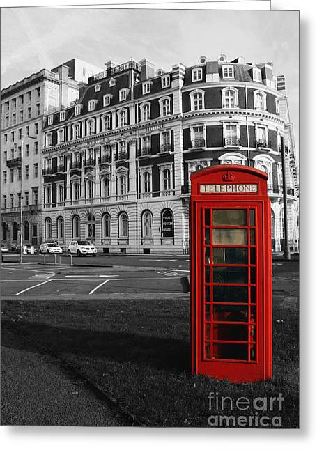 Terri Waters Greeting Cards - Isolated Phone Box Greeting Card by Terri  Waters