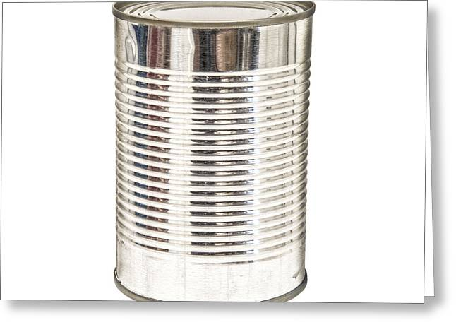 Grocery Store Greeting Cards - Isolated Tin Can Greeting Card by Antony McAulay