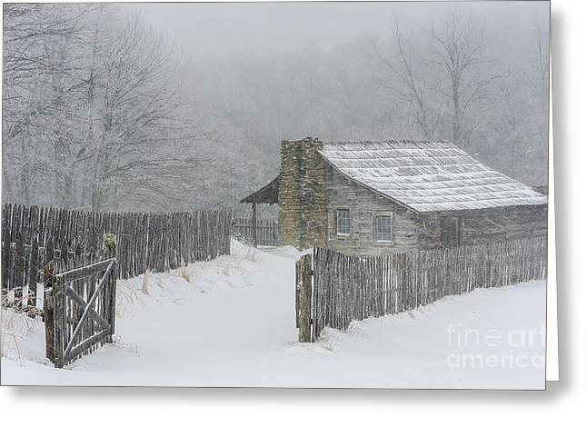 Old Cabins Greeting Cards - Isolation Greeting Card by Anthony Heflin