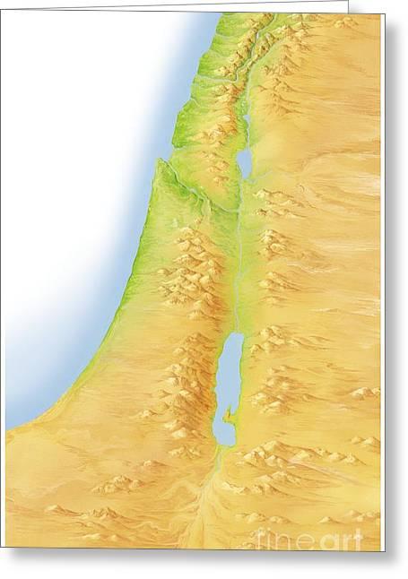 Israel And Palestine, Artwork Greeting Card by Gary Hincks
