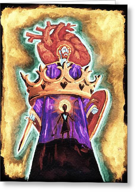 Anatomical Mixed Media Greeting Cards - Israel Receives Her King Greeting Card by David Condry
