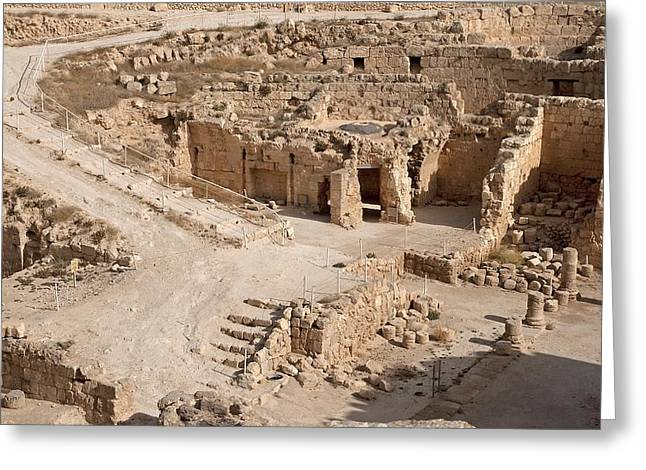 Judea Greeting Cards - Israel, West Bank, Herodion Greeting Card by Science Photo Library