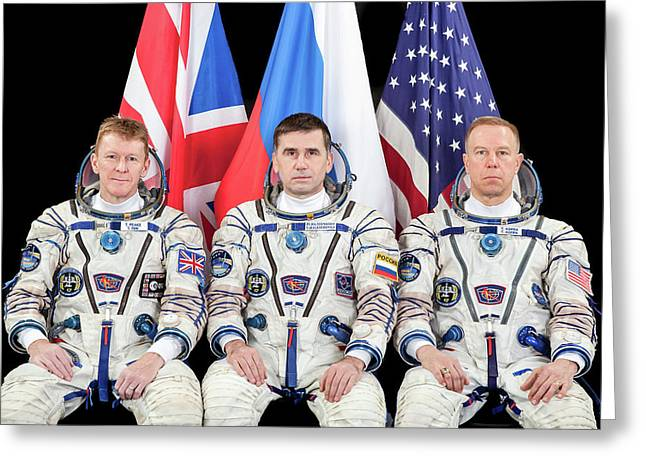 Iss Expedition 46 Crew Greeting Card by Nasa