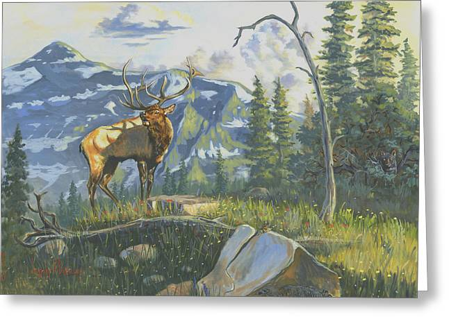 Jeffrey V. Brimley Greeting Cards - Issuing the Call Greeting Card by Jeff Brimley