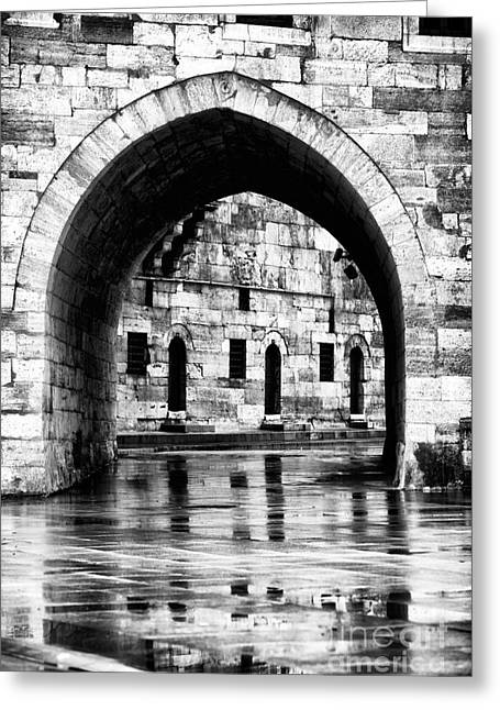 Istanbul Greeting Cards - Istanbul Arch Greeting Card by John Rizzuto