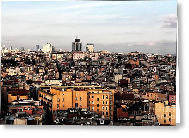 Istanbul Greeting Cards - Istanbul Cityscape IV Greeting Card by John Rizzuto