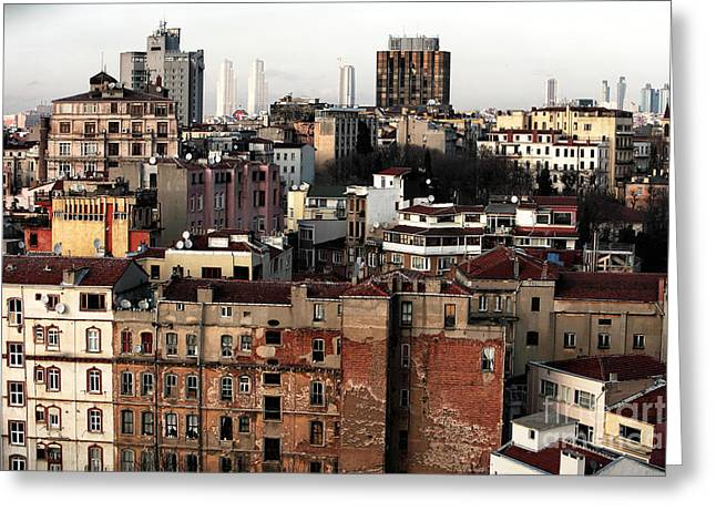 Istanbul Greeting Cards - Istanbul Cityscape VI Greeting Card by John Rizzuto
