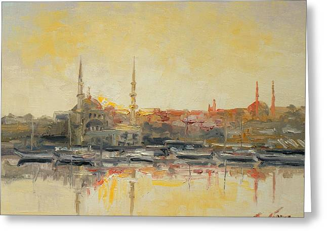 Istanbul- Hagia Sophia Greeting Card by Luke Karcz