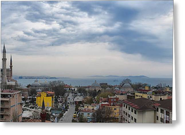 Marmara Greeting Cards - Istanbul panorama HDR Greeting Card by Antony McAulay